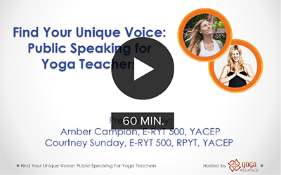 CE Workshop | Find Your Unique Voice: Public Speaking for Yoga Teachers