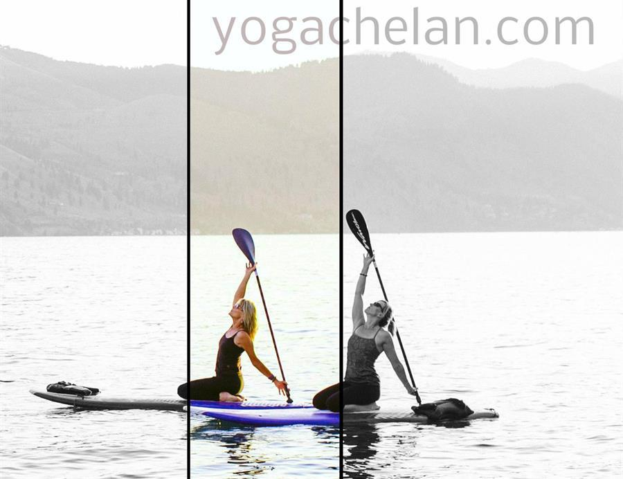 SUP Yoga on Lake Chelan