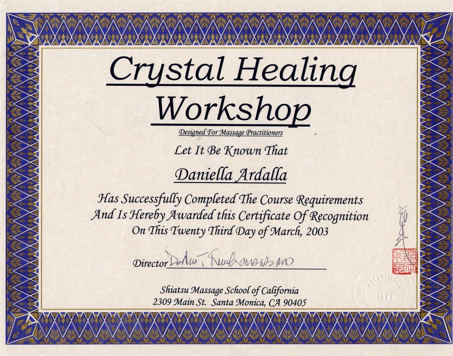 Crystal Healing workshop, SMSC, Los Angeles, CA.