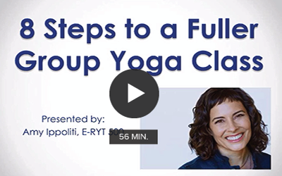 Click to watch ''Eight Steps to a Fuller Group Yoga Class