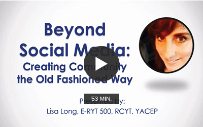 Beyond Social Media: Creating Community the Old Fashioned Way