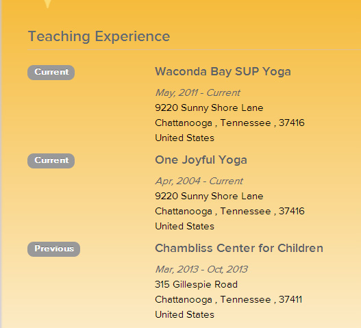 Build Your Online Yoga Resume Yoga Alliance