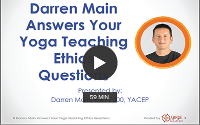 Darren Main Answers Your Yoga Teaching Ethics Questions