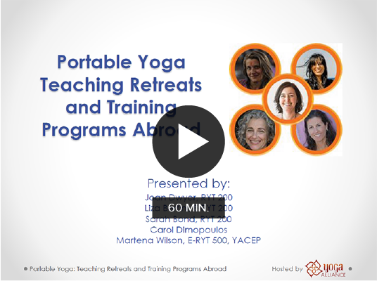 Portable Yoga: Teaching Retreats and Training Programs Abroad