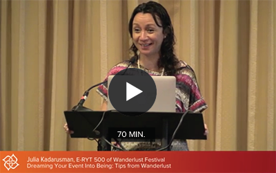 CE Workshop | Dreaming Your Event Into Being: Tips from Wanderlust, 2013 Business of Yoga Conference